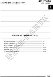 mxu 500 irs efi 1 Manual-de-taller # KYMCO - Catálogo de